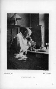 Jules Dejerine in the laboratory, 1905