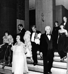 Guests arrive at the 1982 Clover Ball