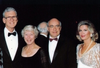 Guests Elizabeth and William Danforth and Patricia and William Peck at the 1992 Clover Ball