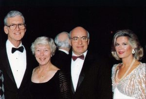Guests Elizabeth and William Danforth and Patricia and William Peck at the 1992