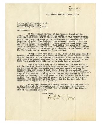 Letter from Grace Richards Jones, February 15, 1918.