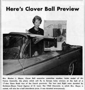 Prizes offered at the 1962 Clover Ball