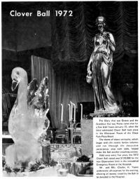 Decorations at the 1972 Clover Ball