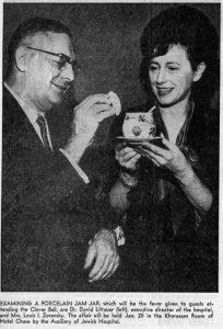 The 1962 Clover Ball gift, a porcelain jam jar