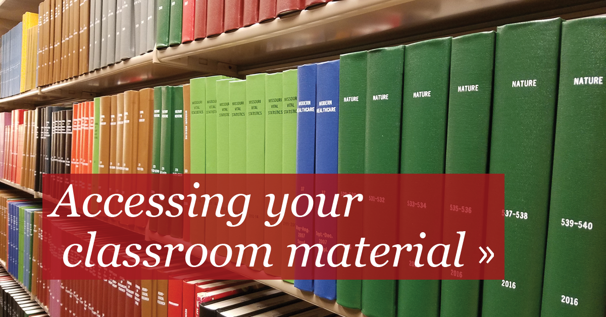 Accessing your classroom material