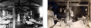 Surgical ward at Base Hospital 21 in Rouen, France, circa 1918.