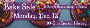 Bake Sale to Benefit Holiday Adopt-A-Family