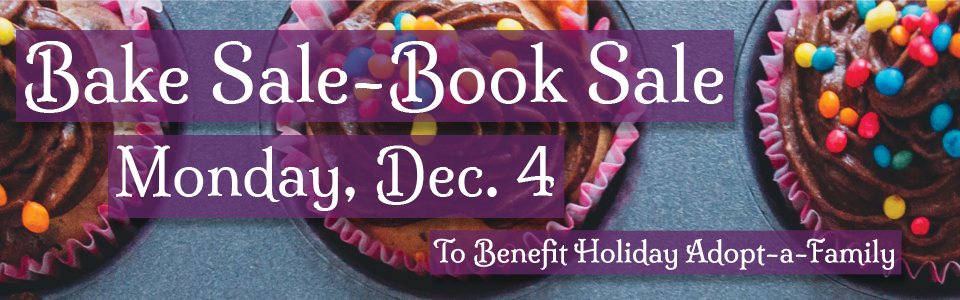Bake Sale-Book Sale Banner