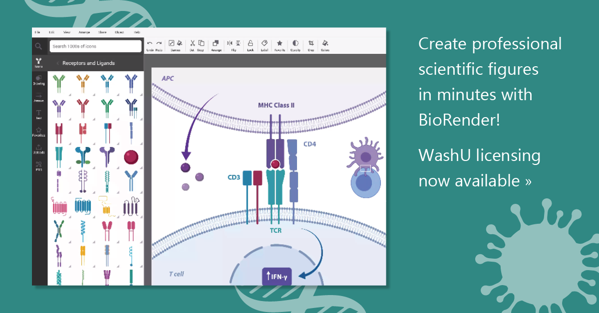 Create professional scientific figures in minutes with BioRender! WashU licensing now available.