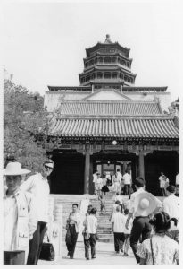 Wes Clark during his visit to China in 1972
