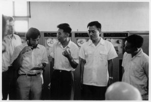 Severo Ornstein with experts at the Peking Institute of Computing Technology, 1972