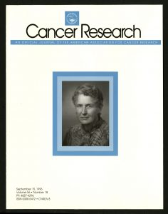 Vietti's photograph was featured on the cover of Cancer Reseach, September 1996.