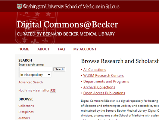 Digital Commons screenshot