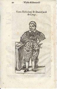 Dwarf, page 40, Aldrovandi's Monstrorum historia, 1642. BBML