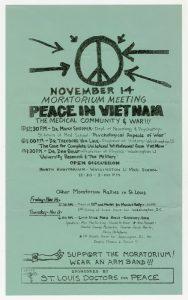 Flyer, Moratorium teach-in, Peace in Vietnam, The Medical Community & War