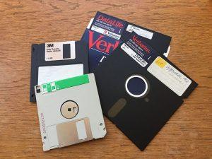 Old floppy disk formats.