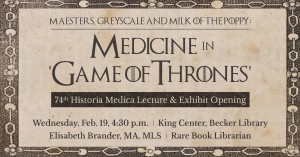 Medicine in Game of Thrones - Feb. 19, 2020