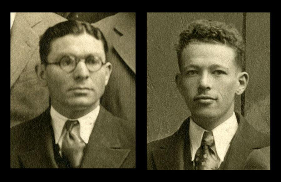 Alfred Goldman, left, and Samuel B. Grant, right
