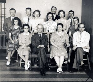 Staff photo of WUSM Pathology Department, 1940.