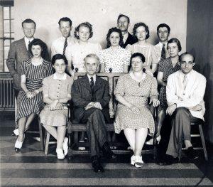 Staff photo of WUSM Pathology Department, 1940.