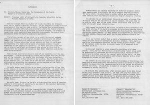 Memorandum regarding proposed 1972 American computer scientist trip to China
