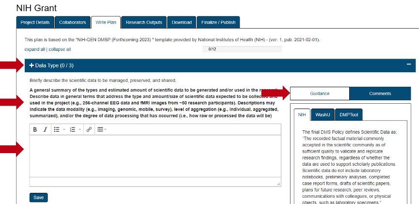 NIH Grant Data Type
