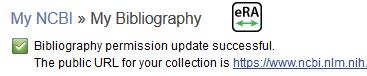 My Bibliography permission update successful