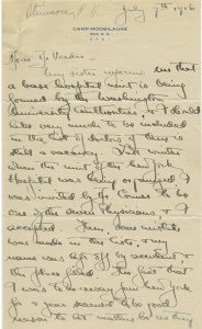 Letter from Philip Moen Stimson to Borden S. Veeder, 7 July 1916.