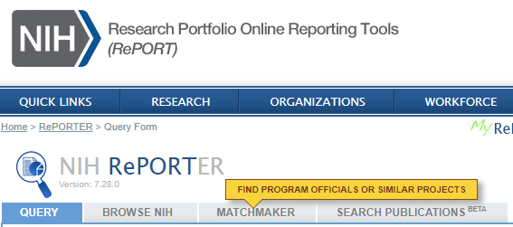 Research Portfolio Online Reporting Tools