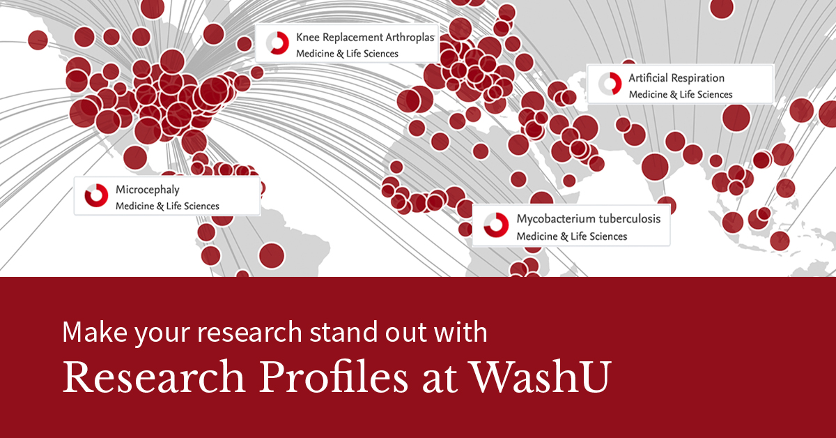 Make your research stand out with Rearch Profiles at WashU