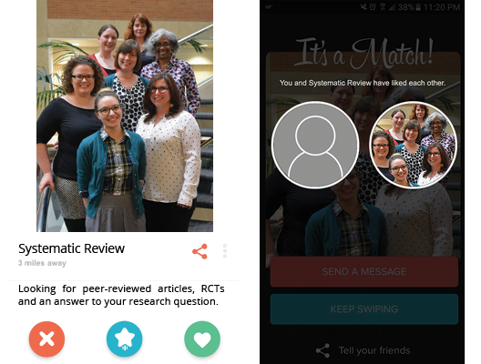 "Systematic Review ""Tinder Match"" Image"
