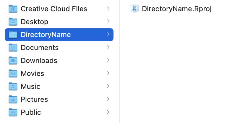 New Directory folder