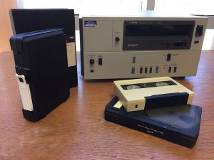Umatic video tapes