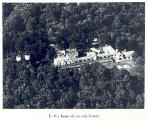 Aerial view of Evelyn Blair House, Ridge Farm, St. Louis Children's Hospital.