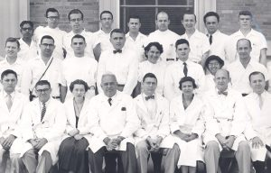 Vietti with other residents and staff of Children's Hospital, circa 1955.