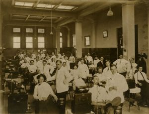 A class in Operative Dentistry, circa 1914.