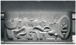 Untitled, abstract bas-relief by Costantino Nivola, circa 1960
