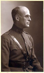 Col. Fred T. Murphy in army uniform, c. 1917, Becker Library Archives.