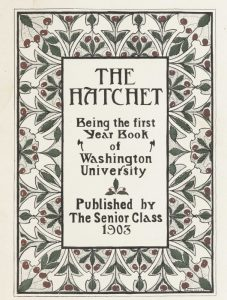 Cover page for 1903 Hatchet yearbook.