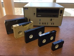 Various formats of video tape existed before VHS.